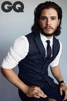 Game of Thrones: Kit Harington on the cover of GQ, January 2015