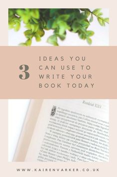 Easy-Peasy Book Writing: 3 Ideas You Can Use to Write Your Book Today