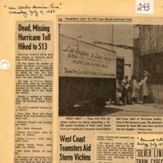 Dead, missing hurricane toll hiked to 513 :: Historic Photographs of Southwest Louisiana Hurricane History, Hurricanes And Tornadoes, Bermuda Triangle, Lake Charles, West Coast, Louisiana, Photographs, Hiking, Weather