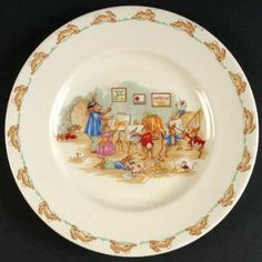 Vintage Bunnykins Plate. Start collecting now for a plate wall in the one day nursery!
