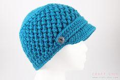 Free Pattern: Criss Cross Newsboy Hat