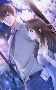 Anime Couples Bai Qi - Love and Producer Couple Anime Manga, Couple Amour Anime, Anime Cupples, Romantic Anime Couples, Anime Couples Drawings, Anime Love Couple, Fanarts Anime, Anime Couples Manga, Anime Kawaii