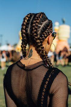 Braids With Bead Embellishments - 40 Best Big Box Braids Hairstyles Cornrow Hairstyles White, Teen Hairstyles, Box Braids Hairstyles, Summer Hairstyles, Festival Hairstyles, French Hairstyles, 4 Braids, Gorgeous Hairstyles, Bohemian Hairstyles