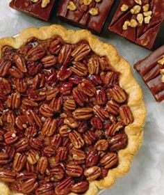 The Only desert DH loves....with a little tweaking he will be able to enjoy this one!   Healthy Pecan Pie Recipes, Self Mag