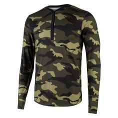 42f3bb2caf5b Merino wool long sleeve base layer  spruce green camo
