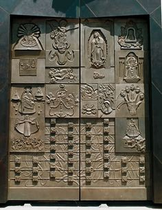 Bronze doors, Cathedral of Our Lady of the Angels, the mother church of the Archdiocese of Los Angeles