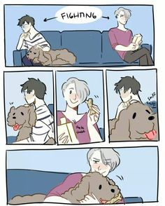 Read Victuuri from the story Yaoi/Anime pics by sushiandtea (APH_Cecilia) with reads. Anime: Yuri On IceShip: Victor x Yuuri Comic Anime, Manga Anime, Victor Y Yuri, Yuri On Ice Comic, Yuri!!! On Ice, Familia Anime, Anime Lindo, Wattpad, Anime Ships