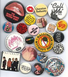 Buttons---lots of them---were the trend for bags, lapels, etc in the early 1980s. I had a whole basket of them.