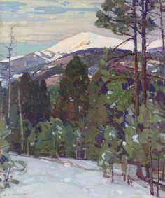 """""""Mount Mansfield,"""" Aldro Thompson Hibbard, oil on canvas laid down on board, 18 x 15"""", private collection."""