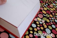 Bible cover tutorial . . . this will be great for the bible J is getting for Christmas!!