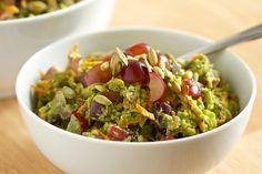 Healthy Broccoli Salad with Creamy Avocado  - Paleo