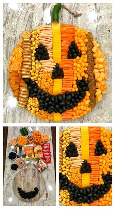 Pumpkin Snack Board ~ How to build an adorable and delicious Pumpkin Snack Board for a Halloween or fall party that is sure to WOW your crowd!
