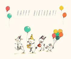 Happy Birthday, Alles Gute,Joyeux anniversaire, Feliz Cumpleaños, Print 6x8 inches