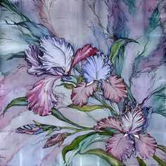 17 best images about batik flowers and butterflies on Silk Painting, Artist Painting, Batik Art, Nature Artists, Puffy Paint, Silk Art, Matisse, Pictures To Paint, Abstract