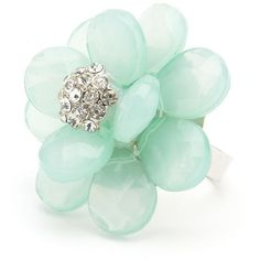 Layered Blossom Cocktail Ring ($6) ❤ liked on Polyvore