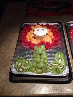 Mario party fruit tray Fireflower
