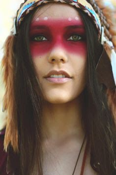 american indian makeup pictures - Google Search
