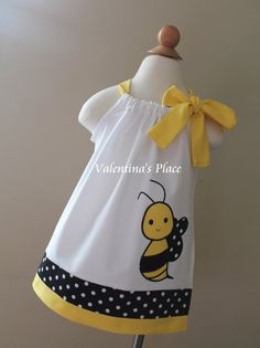 Adorable Bumble Bee pillowcase dress