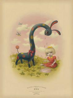 """Temas de la cultura pop fusionados con técnicas que recuerdan a los viejos maestros, Mark Ryden ha creado un estilo singular que desdibuja los límites tradicionales. Su primer trabajo llamó la atención en la década de 1990, cuando marcó el comienzo de un nuevo género de la pintura, """"Surrealismo Pop"""", arrastrando una gran cantidad de seguidores a su paso."""