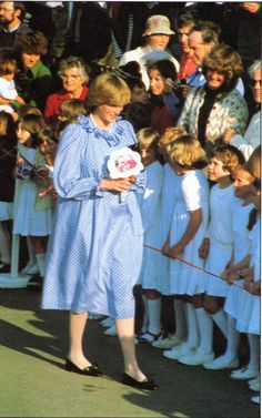 The Princess visited St Mary's, the Isles of Sicily, in April 1982