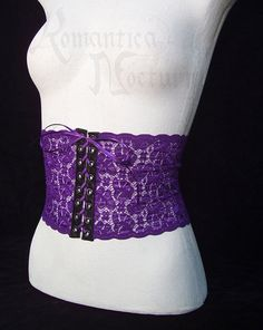 Lace belt, faux waist-cinch with corset lacing - Made to your measurements 18