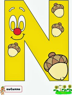 A Scuola con Poldo: settembre 2013 Abc Coloring Pages, Letters And Numbers, Art For Kids, Fall Decor, Art Projects, Banner, Wallpaper, Crafts, Alphabet