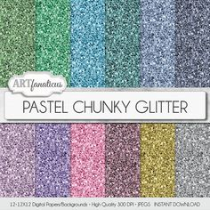 Chunky glitter paper PASTEL CHUNKY GLITTER 12 by Artfanaticus  My backgrounds, textures, digital paper and clip art can be used for just about any project. Add some additional artistic style to your photo albums, photography projects, photographs, scrap booking, weddings, invitations, greeting cards, gift wrap, labels, stickers, tags, signs, business cards, websites, blogs, parties, events, jewelry & more.  For more digital papers, please visit Artfanaticus at:  http://artfanaticus.etsy.com