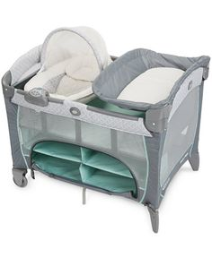 Graco Pack 'n Play Playard with Newborn Napper Dlx, truly grows with your child. It easily transitions as you place your newborn in the napper station, then as your infant rests in the comfortable ful