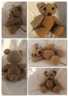 My Theo the Teddy Bear. I loved following this #crochet pattern and would highly recommend this pattern!