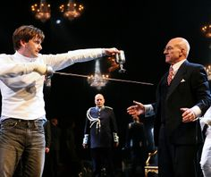 """""""Hamlet"""" by William Shakespeare. Directed by Gregory Doran. With David Tennant, Patrick Stewart, Penny Downie, Oliver Ford Davies, Mariah Gale and Tsjaikovski's skull as poor Yorick. Novello Theatre, London, 2008."""