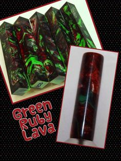 Green Ruby Lava by AngelsHeavenlyDesign on Etsy, $25.00