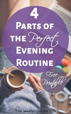 Everyone is busy working on their morning routine, but I think a good evening routine is even more important - especially for busy women, families, and kids. This has a great checklist of evening routine tasks and a free printable that I'm going to have t Beauty Routine Checklist, Beauty Routines, Skincare Routine, Routine Planner, Skin Routine, Evening Routine, Night Routine, Skin Care Regimen, Skin Care Tips