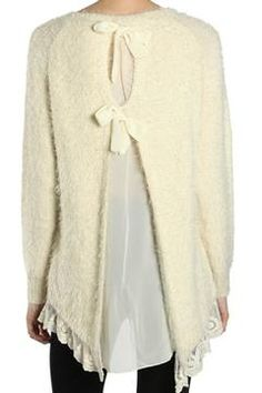 Shoptiques Product: Tunic Lace Sweater