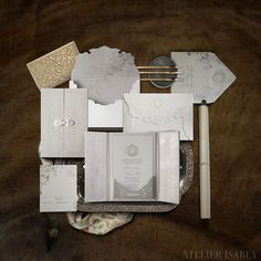 East meets West luxury wedding invitation suite by Atelier Isabey