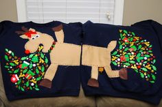 The Sick Reindeer Sweater   Community Post: 27 Ugly Sweater DIYs That Will Make Santa Cry