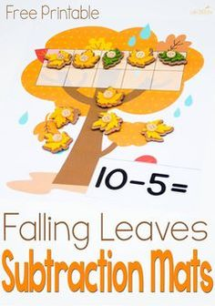 This free subtraction with ten-frames activity is great for practicing subtraction within Lots of fun with the cute leaves!: This free subtraction with ten-frames activity is great for practicing subtraction within Lots of fun with the cute leaves! Ten Frame Activities, Autumn Activities For Kids, Math For Kids, Hands On Activities, Learning Activities, Free Activities, Teaching Ideas, Math Subtraction, Subtraction Activities