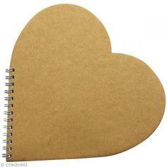 Libro de oro corazón 20 x 20 cm para decorar - Fotografía n°1