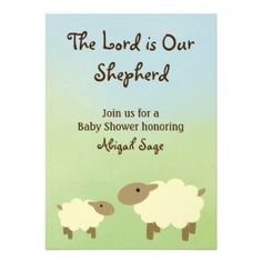 Printable Christian Baby Shower Invitation Fearfully And