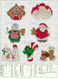 ♥Meus Gráficos De Ponto Cruz♥: Papai Noel em Gráficos de Ponto Cruz