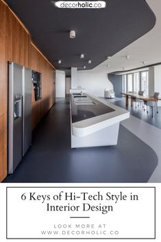 Nowadays, everything is modern. Every single thing uses hi-tech, and in interior designs, too. We enjoy the coldness of shiny metal, glass, and plastic. They appreciate modern technology, then without any doubt, we're truly a fan of the hi-tech style. But, what're interiors in hi-tech really? #decorholic #hitech #interiordesign #moderninterior #homedesignideas