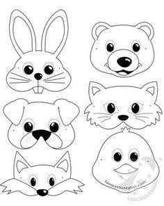 Maschere di animali per bambini da stampare e ritagliare