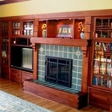 8 Blessed Tips: Tv Over Fireplace Height rustic fireplace hearth.Fireplace Outdoor Los Angeles log b Craftsman Style Interiors, Craftsman Decor, Craftsman Fireplace, Bungalow Interiors, Craftsman Interior, Bungalow Homes, Craftsman Homes, Log Burner Fireplace, Tv Over Fireplace