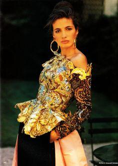 UK Vogue October 1988 Liquidity Ph: Patrick Demarchelier Model: Carré Otis; Kara Young; Fabienne Terwinghe