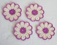 Crochet Tablecloth, Crochet Doilies, Crochet Flowers, Knit Crochet, Coasters, Crochet Earrings, Projects To Try, Mandala, Embroidery