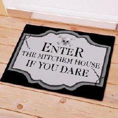 Personalized Halloween Welcome Doormat