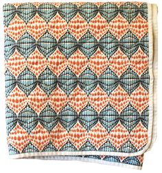 quilted throw from Utility Canvas: very african! - raindrop pattern