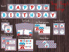 Thing 1 & Thing 2  Party Package Personalized on Etsy, $35.50