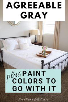 Grey Colour Scheme Bedroom, Best Bedroom Paint Colors, Greige Paint Colors, Best Paint Colors, Paint Colors For Home, Paint Colours, Warm Color Schemes, House Color Schemes, House Colors