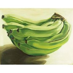Green bananas by Janet Fish Still Life Drawing, Painting Still Life, Juan Sanchez Cotan, Cezanne Still Life, Banana Art, Green Banana, Artistic Installation, Expressive Art, Photorealism