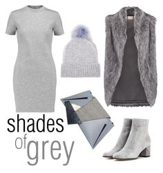 """""""shades of grey"""" by janesmiley ❤ liked on Polyvore featuring Georgina Skalidi, DKNY, Gianvito Rossi, Être Cécile and Helen Moore"""